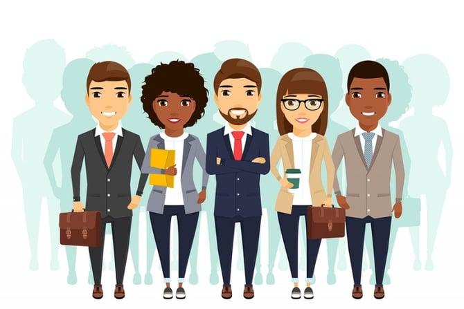 Millennial sales team