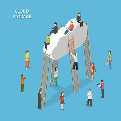 bigstock-Cloud-Storage-Isometric-Vector-92727449