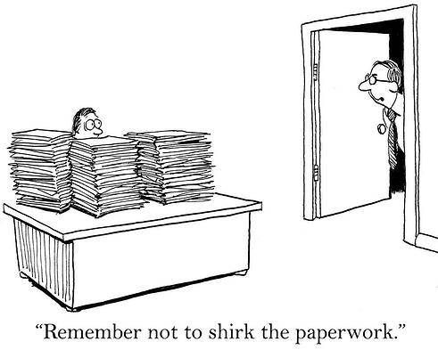 comic - remember not to shirk the paperwork